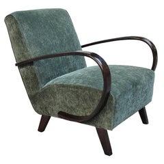 Art Deco Belsuede Armchair