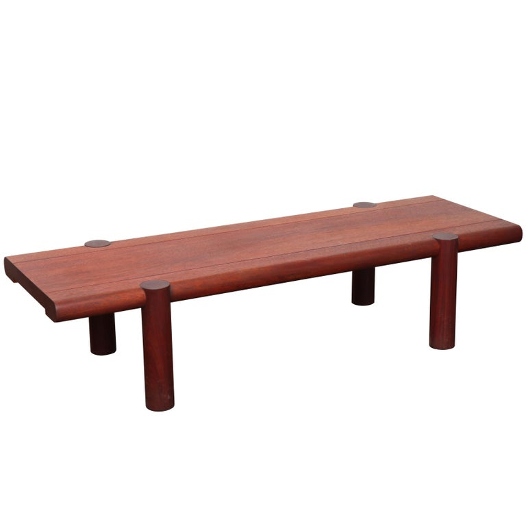 Midcentury Sherrill Broudy Solid Mahogany Coffee Table
