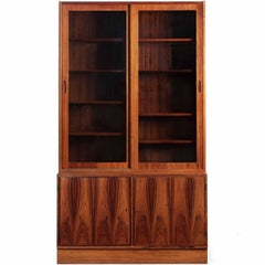 Danish Mid Century Rosewood Bookcase Cabinet by Poul Hundevad