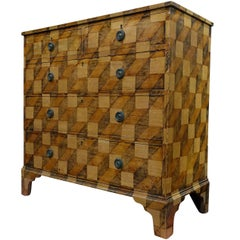 Faux Painted Chest of Drawers, England, 19th Century