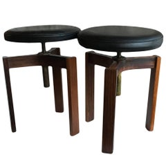 Pair of Midcentury Danish Stools