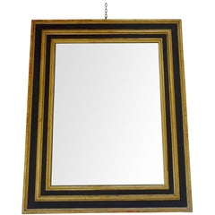 19th Century Extra Large Ebonized / Gold Leaf Mirror, France