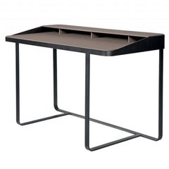 Twain Personal Desk in Leather and Steel in Various Colors by Gordon Guillaumier