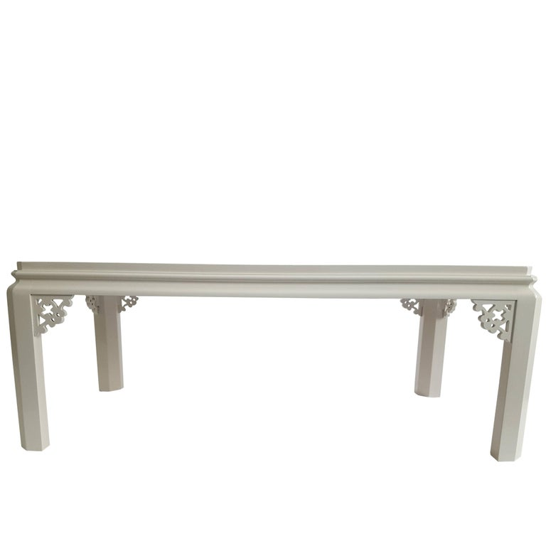 Vintage Henredon Lacquered Fretwork Coffee Table For Sale At 1stdibs