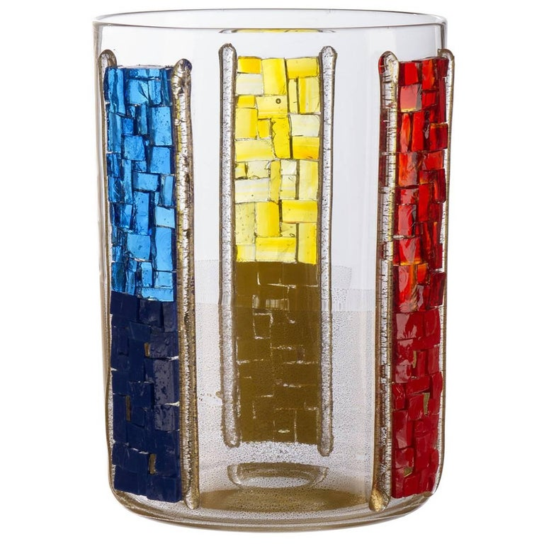 Trio Red Yellow Blue Candleholder