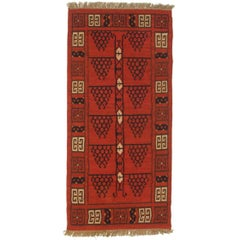 Afghan Geometric Flatweave Rug