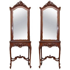 French Louis XV Style Curio Cabinets