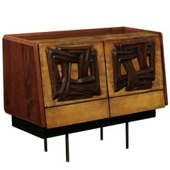 Exquisite Bar Cabinet Attributed to Claude Vassal, circa 1950