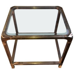 Mid-Century Modern Brass Mastercraft Side End Table