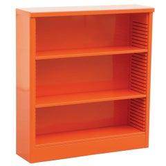 1960s Steel Bookcase in Orange, Custom Refinished