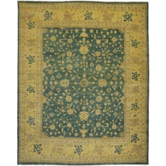 New Transitional Oushak Palace Size Rug with Hollywood Regency Style