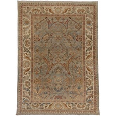 New Neoclassical Style Persian Sultanabad Area Rug, Oversized Persian Rug