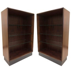 Pair of Danish Modern Rosewood Bookcases