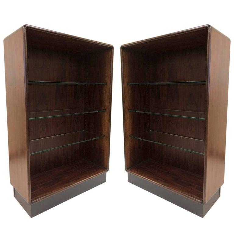 Pair of Danish Modern Rosewood Bookcases
