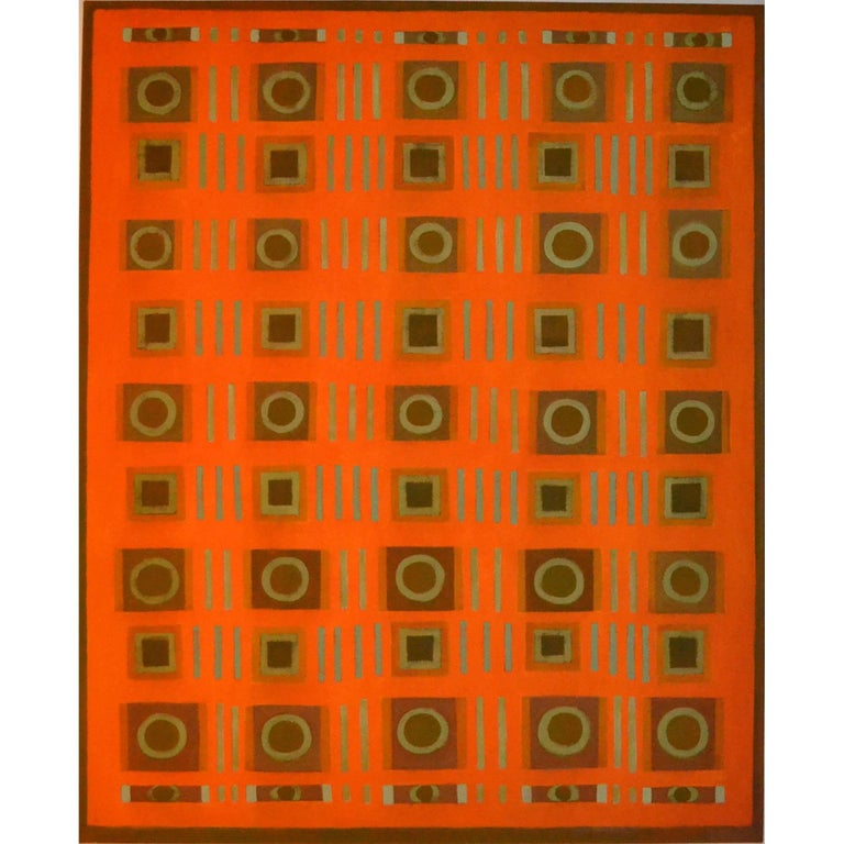 Abstract Painting Titled Collection on Orange by Artist Tina Bluefield