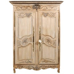 19th Century  French Painted Armoire, Circa 1820