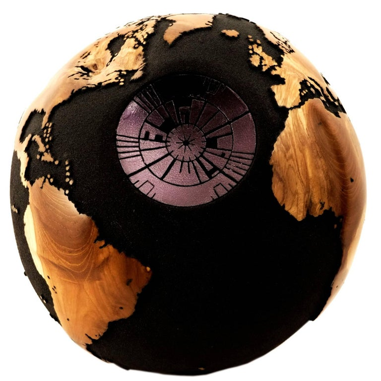 Death Star HB Globes, Black Silver Leaf and Volcanic Sand, 30 cm, Saturday Sale