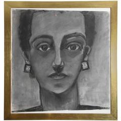 Painting, Portrait of a Lady, Large, C 1960