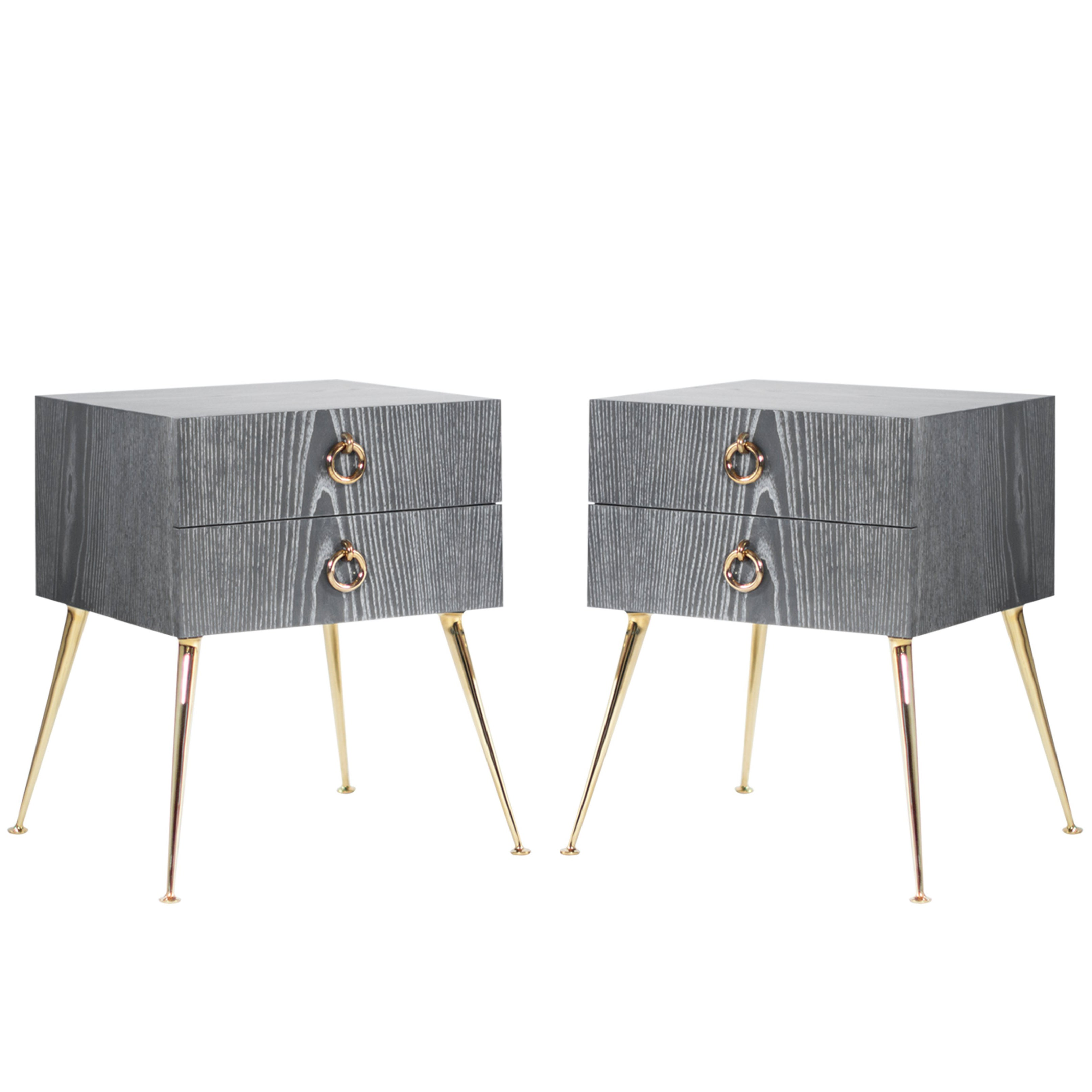 Gibby Collection End Tables in Grey Ceruse