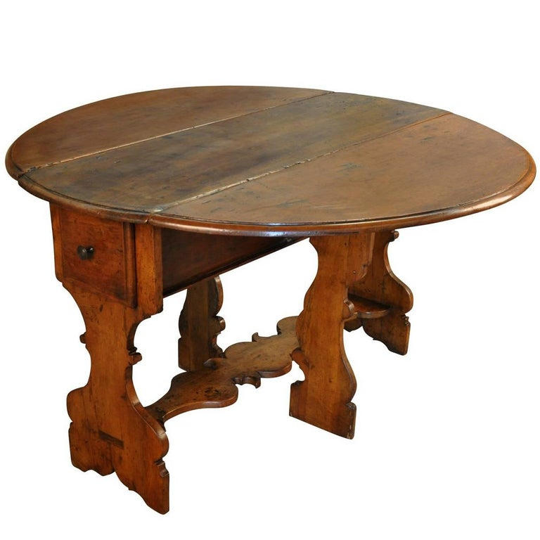 18th Century Italian Dropleaf Table