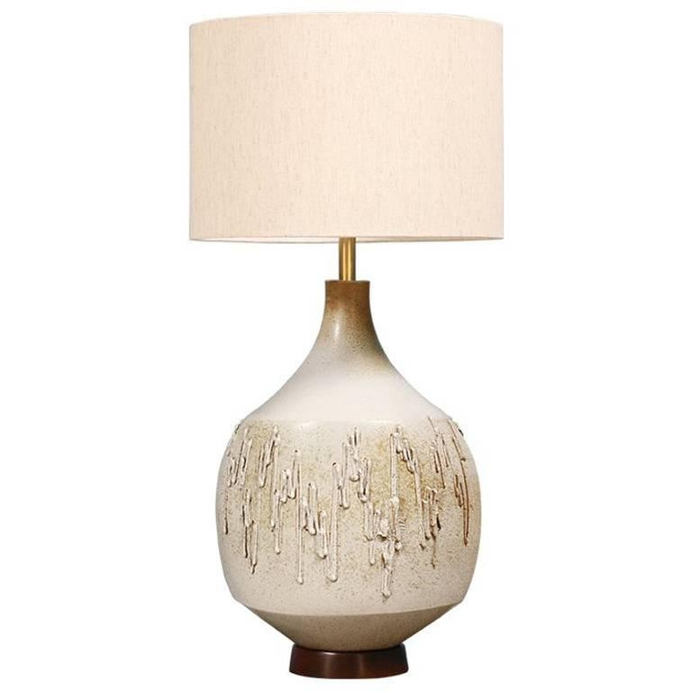 David Cressey Drip Texture Ceramic Table Lamp for Architectural Pottery