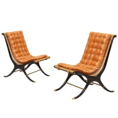 Gerald Jerome Scoop Lounge Chairs for Heritage