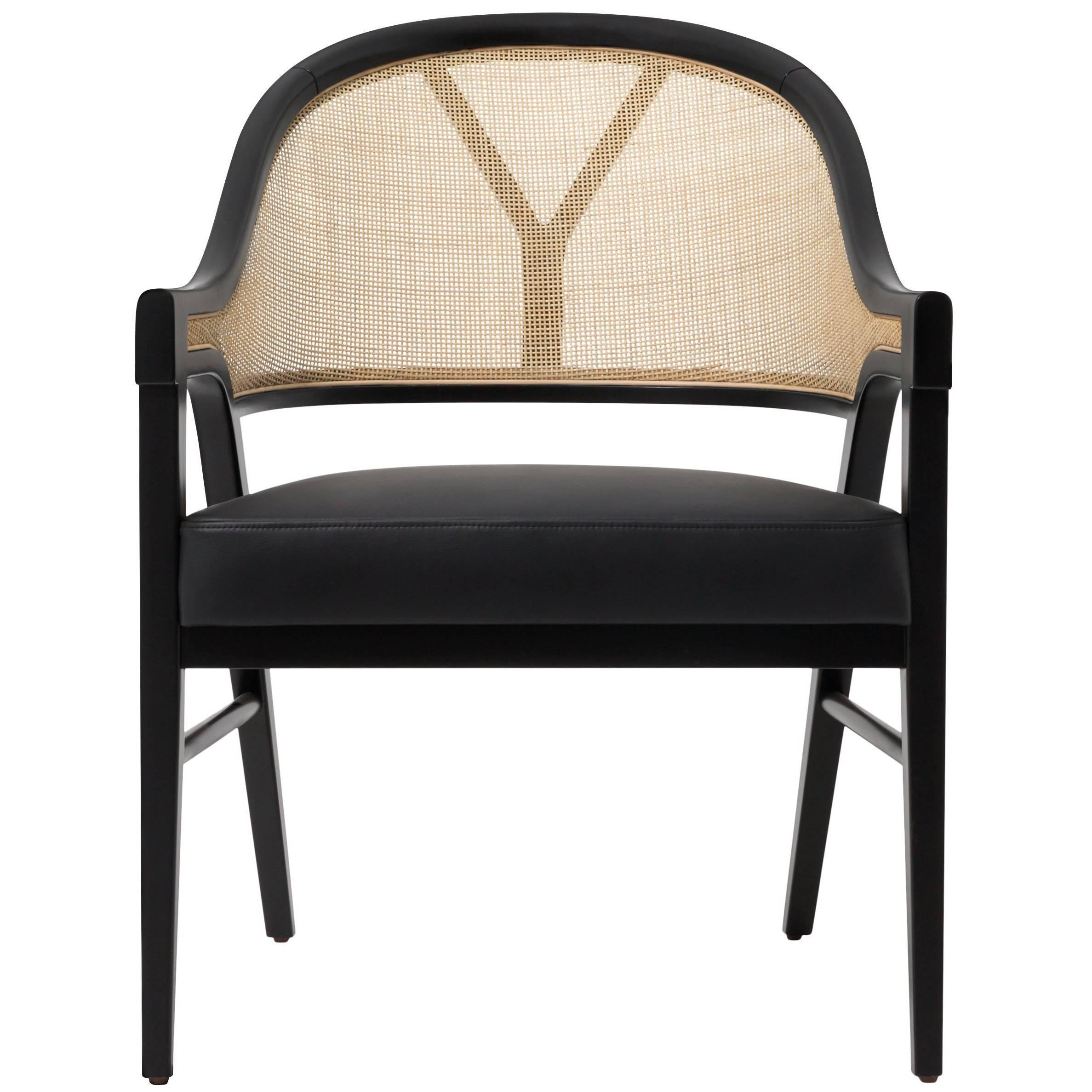 Charmant Contemporary Grace Cane Lounge Chair In Cane And Solid Wood