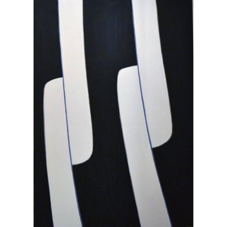 Abstract Painting Titled Twin Sliders by Artist Tina Bluefield