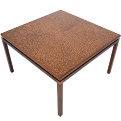 Danish Modern Rosewood and Copper Coffee Table