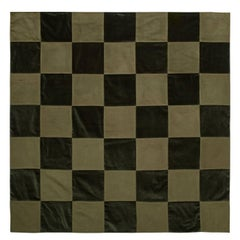 Composition with Dark Olive Green Throw