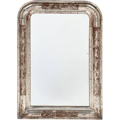 Louis Philippe Period Silver Leaf Small Mirror