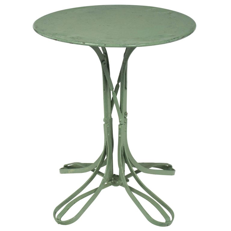 Green French Vintage Bistro Table For