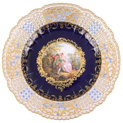 Pair of 19th Century Meissen Reticulated Plate