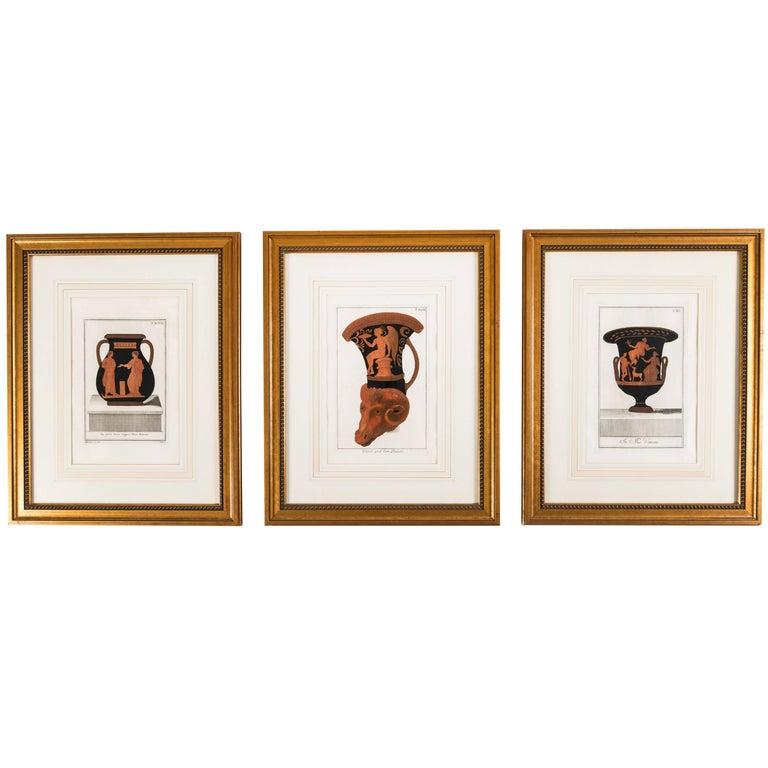 Set of Three Framed Prints Depicting Greek Apulian Red-Figure ...