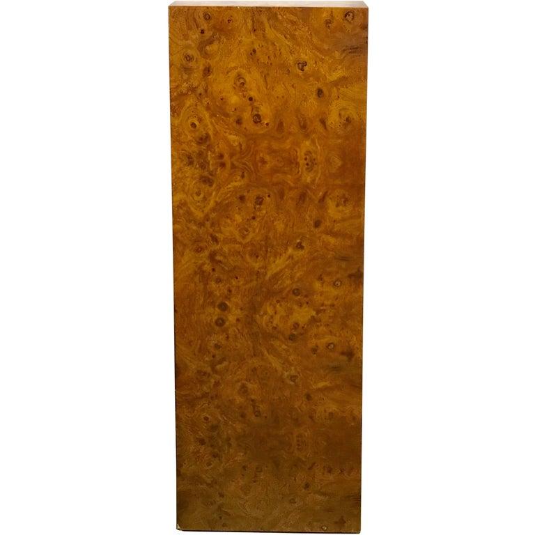 Milo Baughman Tapperd Olive Wood Pedestal