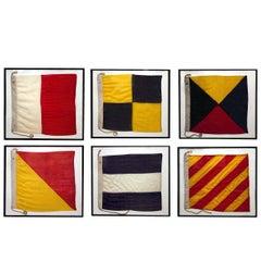 Set of 6 WWII International Nautical Flags