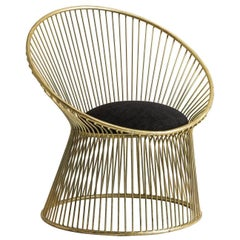 Armchair in steel wires