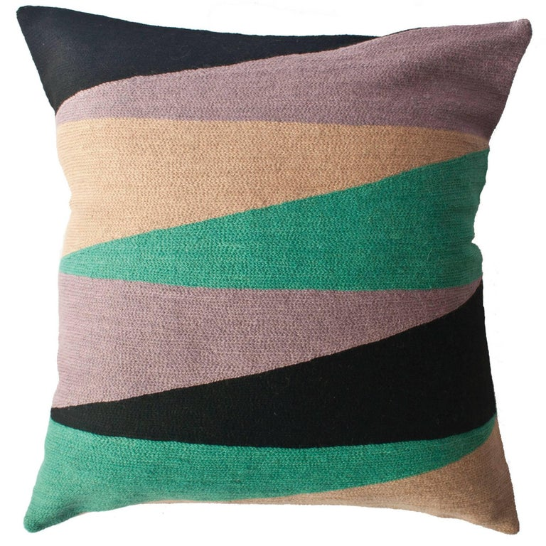 Zimbabwe Landscape Winter Hand Embroidered Modern Geometric Throw New Winter Throw Pillow Covers