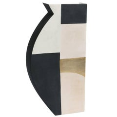Medium Pacay Abstract Vase with Gold Leaf