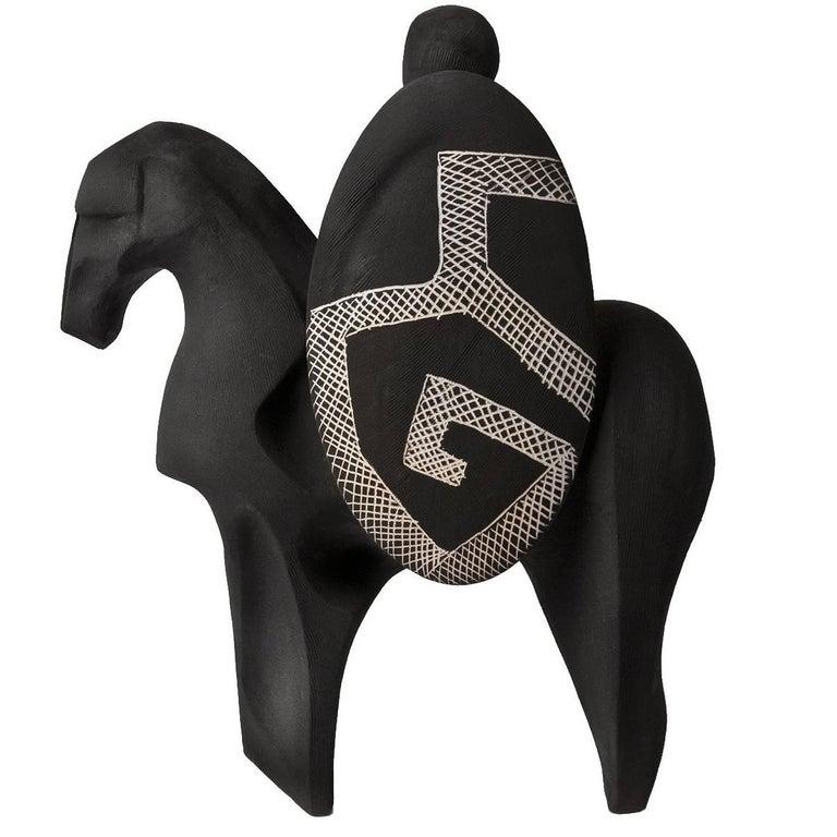 Guerriero Black Sculpture
