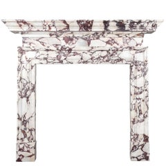Ryan & Smith Portavo Breccia Viola Marble Fireplace
