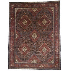 Antique Persian Bibikabad Rug with Modern Traditional Style