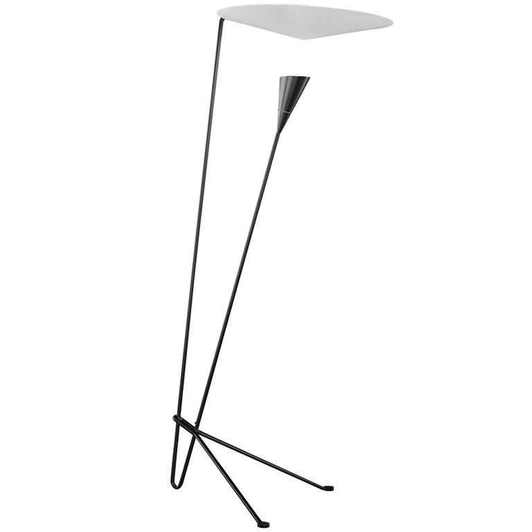 Michel Buffet 'B211' Black and White Floor Lamp