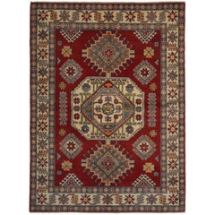 Kazak, Hand-Knotted Area Rug