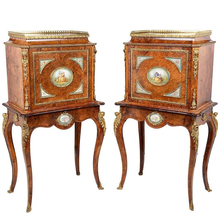 Pair of Louis XVI Style Cabinets, 19th Century