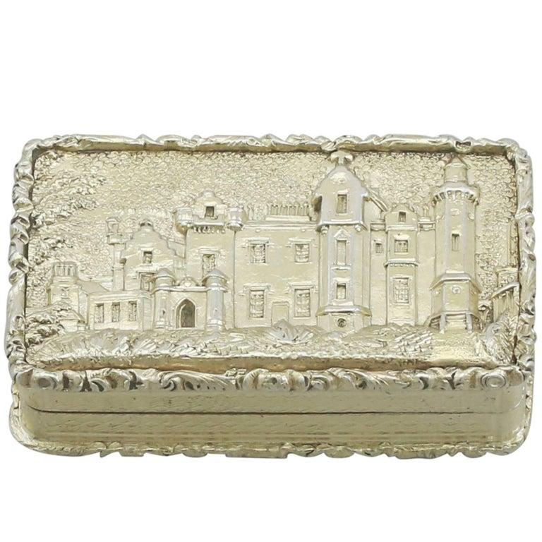 1830s Sterling Silver Gilt Vinaigrette For Sale