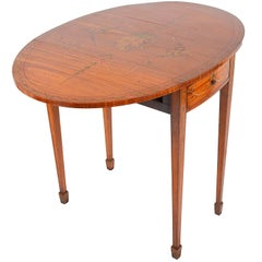 Satinwood Sheraton Revival Occasional Table