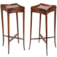 Pair of Sheraton Revival Urn Stands, circa 1880
