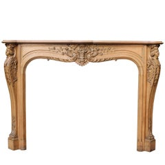 Early 19th Century Carved Oak Fire Surround