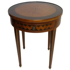 Directoire Game Table with Ebonized Inlay, French, circa 1780